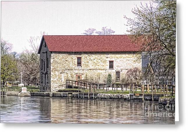 Old Stone House On The Canal Greeting Card by Jim Lepard