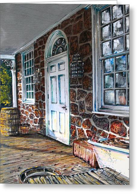 Old Stone Store Front Greeting Card