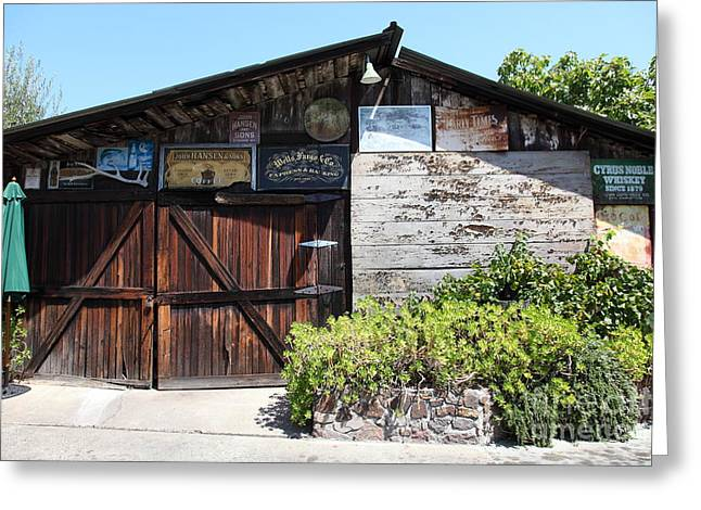 Old Storage Shed At The Swiss Hotel Sonoma California 5d24458 Greeting Card by Wingsdomain Art and Photography