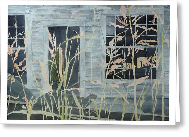 Greeting Card featuring the painting Old Store At June Bug Road by Joel Deutsch