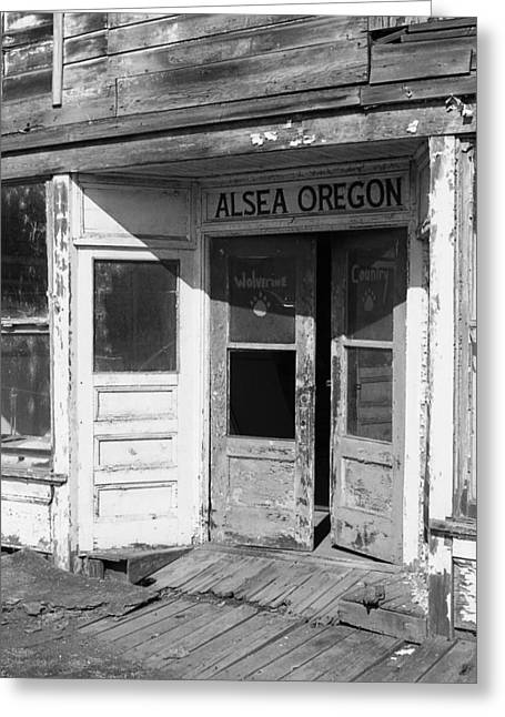 Old Store Front - Alsea Oregon Greeting Card