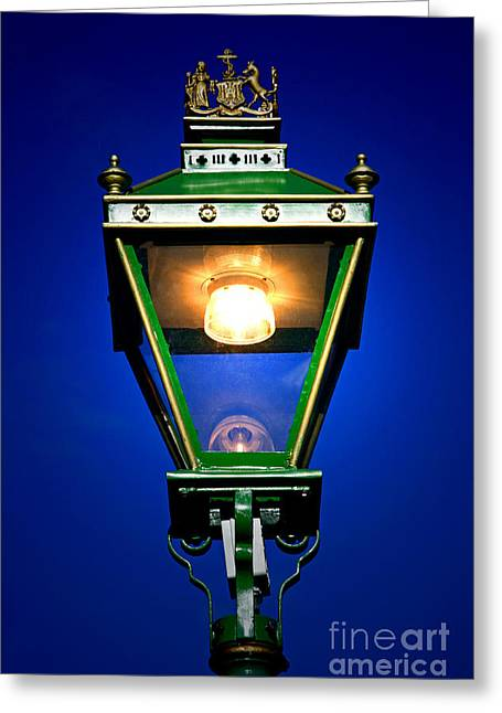 Greeting Card featuring the photograph Old Streetlamp by Craig B