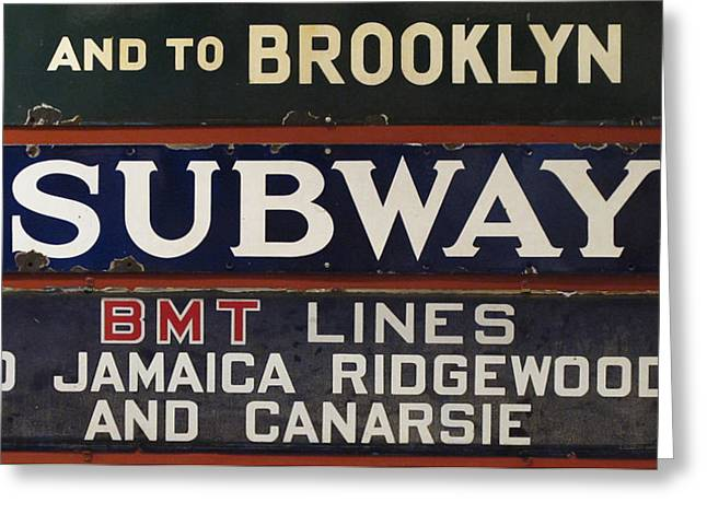 Old Subway Signs Greeting Card by Dave Mills