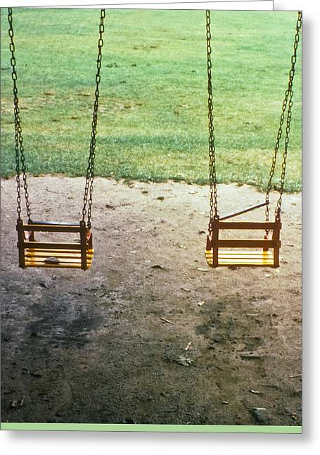 Old Swings In Brookdale Park Greeting Card