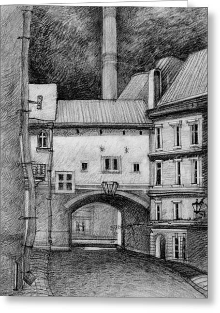 Old Tallinn Greeting Card by Serge Yudin
