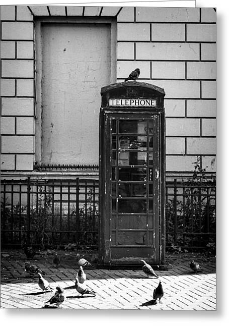 Old Telephone Box Greeting Card by Jim Orr