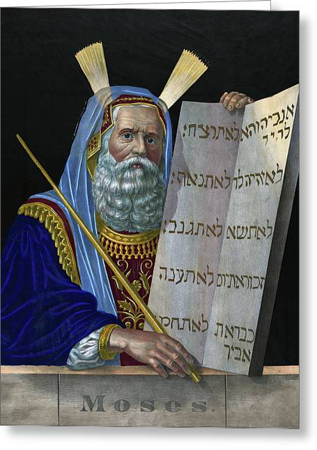 Old Testament Moses Greeting Card by Granger
