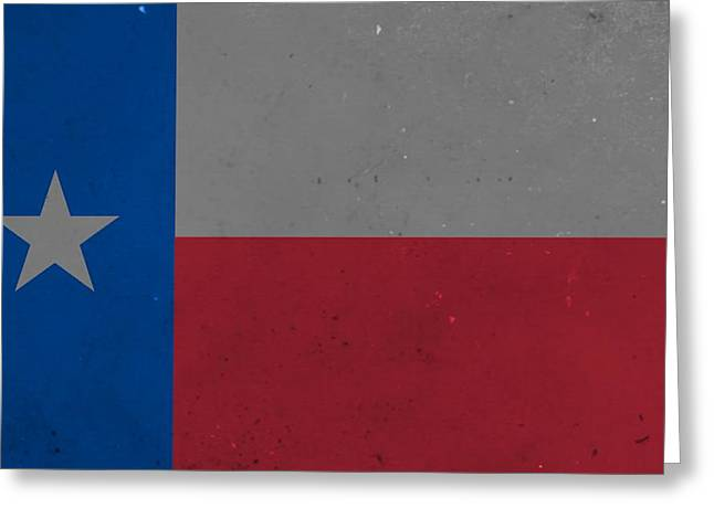 Old Texas State Flag Greeting Card by Dan Sproul