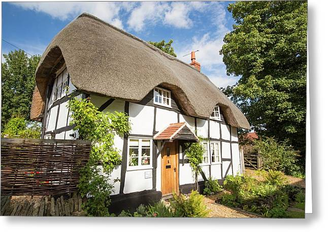 Old Thatched House In Elmley Castle Greeting Card by Ashley Cooper