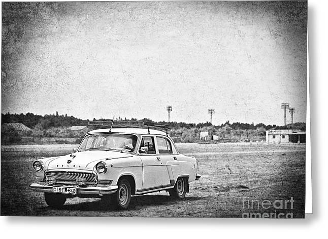 Old Time Beach Cruising Greeting Card by Emily Kay