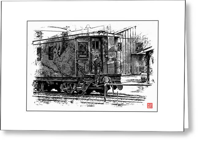 Old Time Caboose Greeting Card by Ken Evans