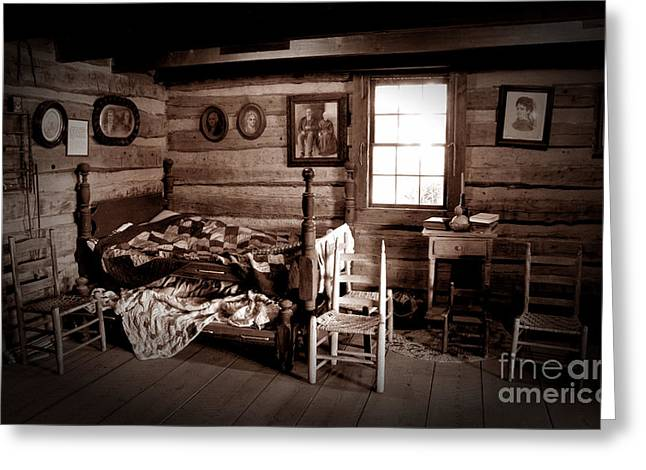 Old-time Living Greeting Card by Paul W Faust -  Impressions of Light