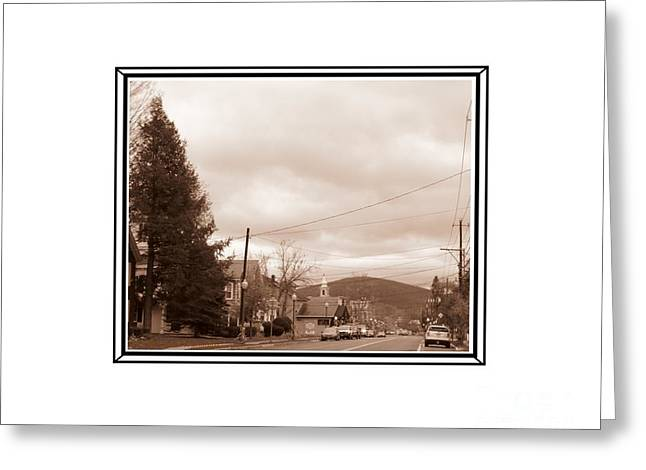 Old Time Main Street Greeting Card