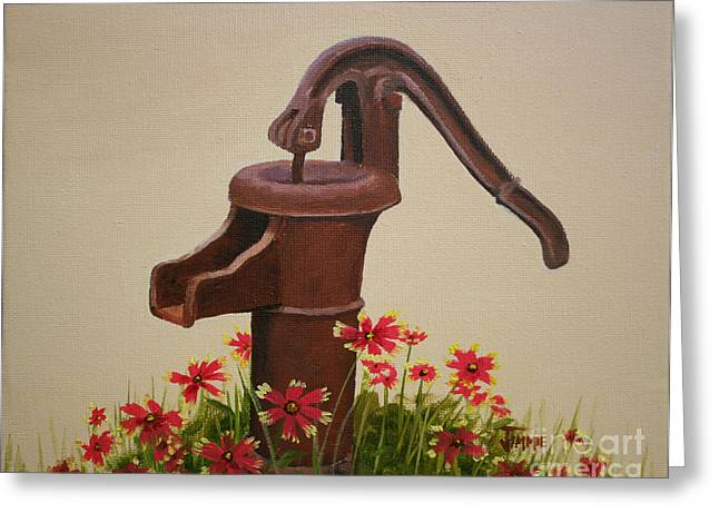 Old Time Pump Greeting Card by Jimmie Bartlett
