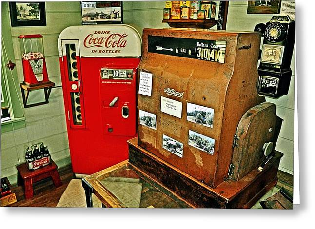 Old Time Station Greeting Card by Marty Koch