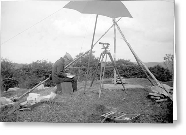 Old Time Surveyor Greeting Card
