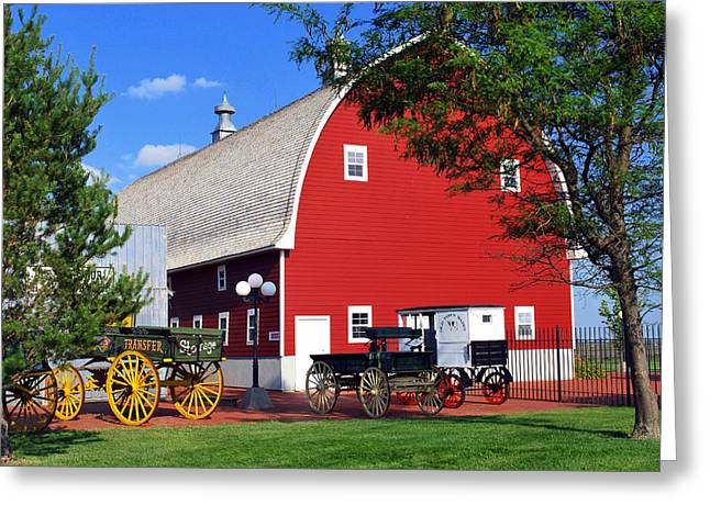 Old Time Town And Historic Barn Greeting Card by Gregory Ballos