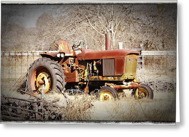 Old Timer Greeting Card by Cherie Haines