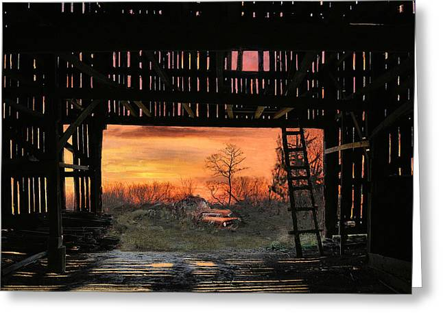 Old Timers Sunset Greeting Card