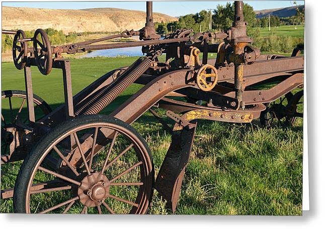 Old Timey Grader Greeting Card by Eric Nielsen