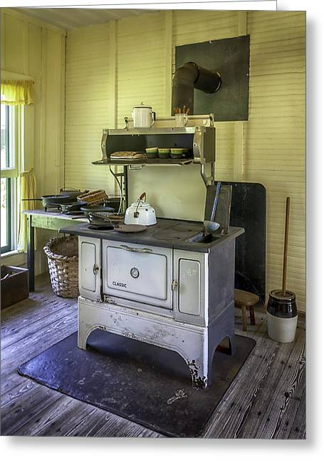 Old Timey Stove Greeting Card by Lynn Palmer