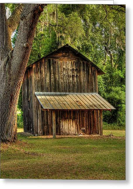 Old Tobacco Barn Greeting Card by Donald Williams