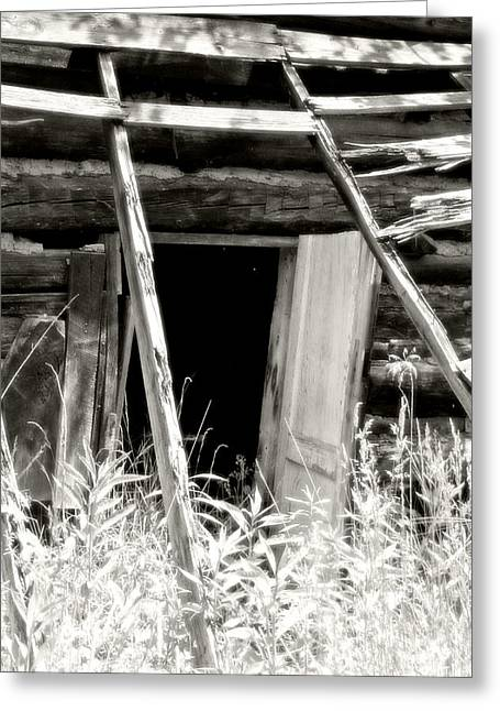 Old Tobacco Barn Greeting Card by Michael Allen