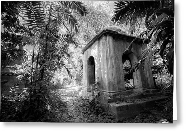 Old Tomb At Cemetery In Calcutta Greeting Card by BJ Graf