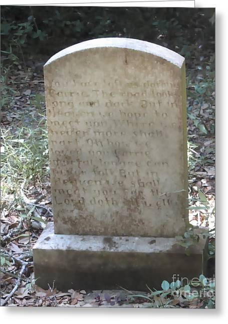 Old Tombstone  Greeting Card by Cathy Lindsey