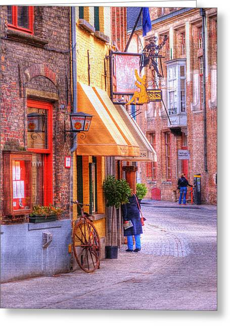Old Town Bruges Belgium Greeting Card by Juli Scalzi