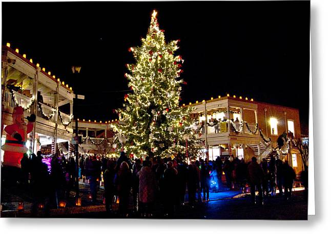 Old Town Christmas Tree Greeting Card