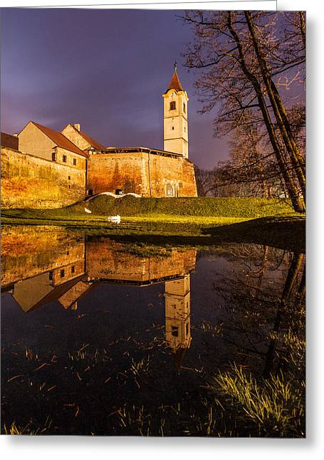 Old Town Greeting Card by Davorin Mance