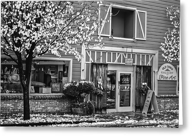Greeting Card featuring the photograph Old Town Gallery 2 by Sherri Meyer