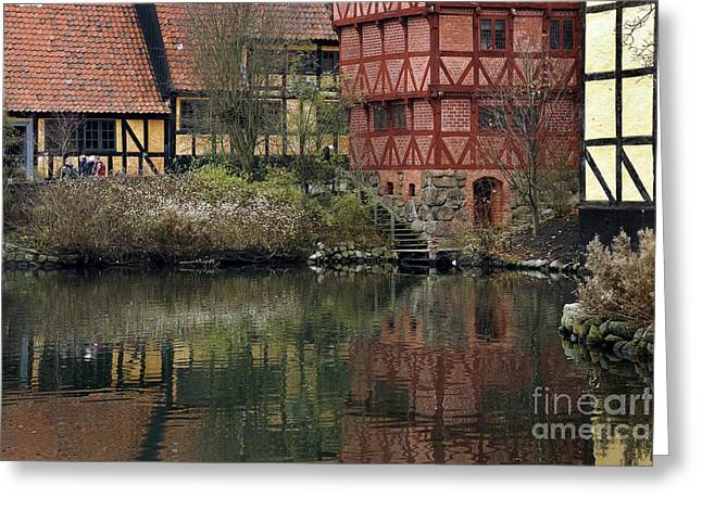 Old Town In Aarhus Greeting Card by Inge Riis McDonald
