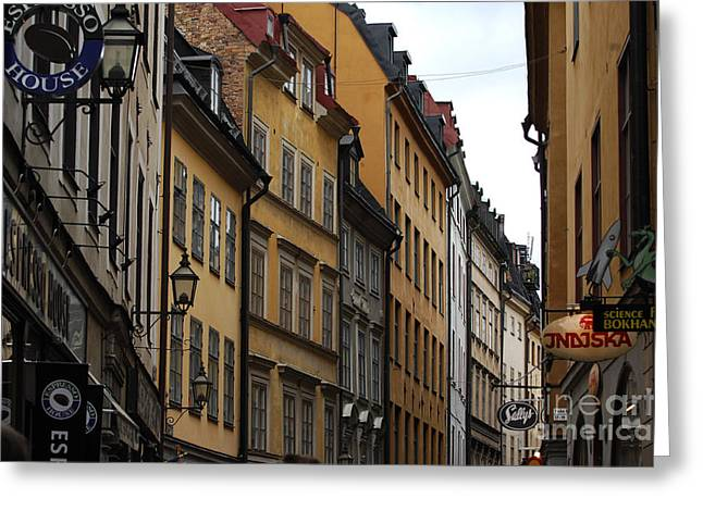 Old Town In Stockholm Sweden Greeting Card by Micah May