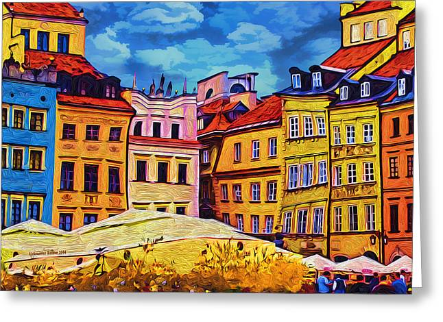 Old Town In Warsaw #1 Greeting Card by Aleksander Rotner