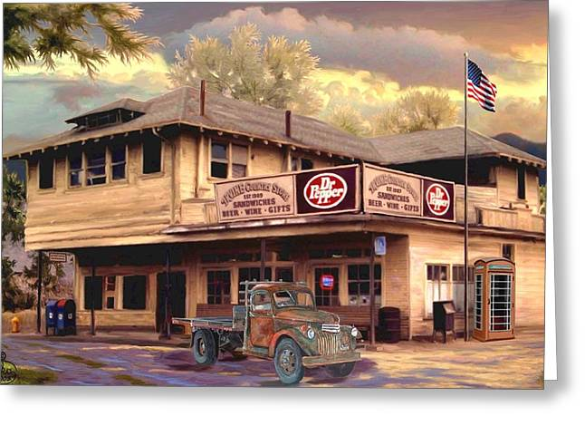 Old Town Irvine Country Store Greeting Card by Ron Chambers