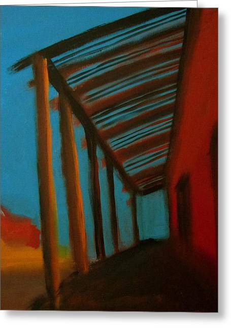 Greeting Card featuring the painting Old Town by Keith Thue