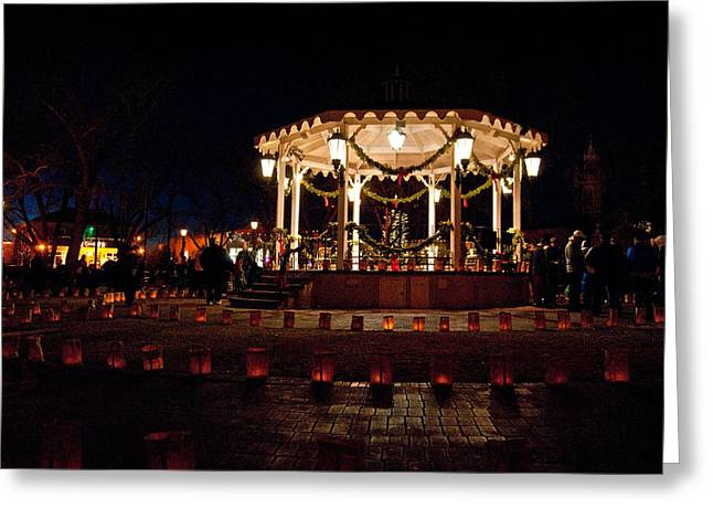 Old Town Luminarias And Bandstand Greeting Card