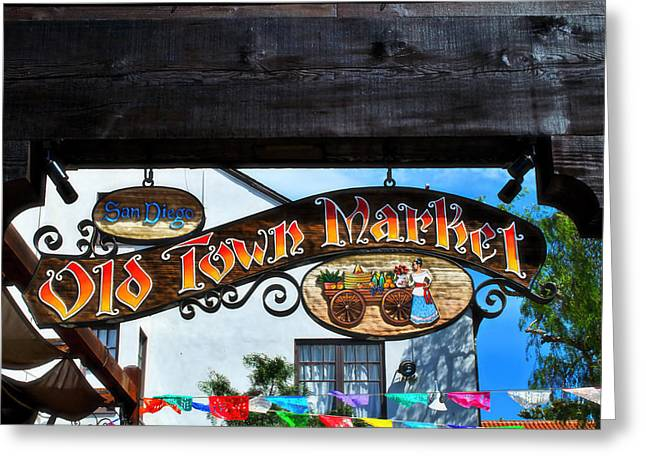 Old Town Market- San Diego Greeting Card
