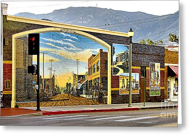 Old Town Mural Greeting Card