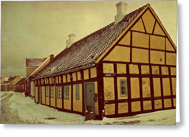 Old Town Greeting Card by Odd Jeppesen