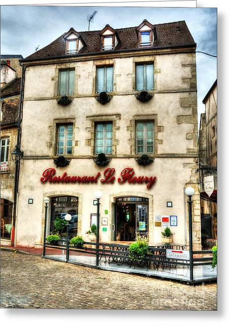 Old Town Of Beaune Greeting Card by Mel Steinhauer