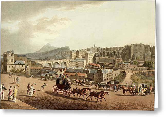 Old Town Of Edinburgh Greeting Card by British Library