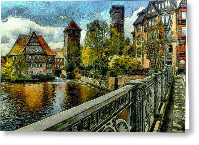 Old Town Of Luneburg Greeting Card by Ralph  van Och