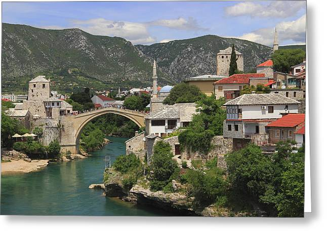 Old Town Of Mostar Bosnia And Herzegovina Greeting Card by Ivan Pendjakov