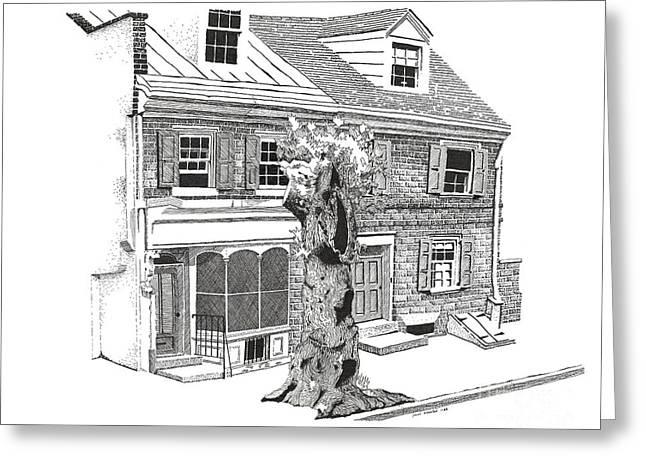 Old Town Philadelphia Greeting Card by Paul Kmiotek