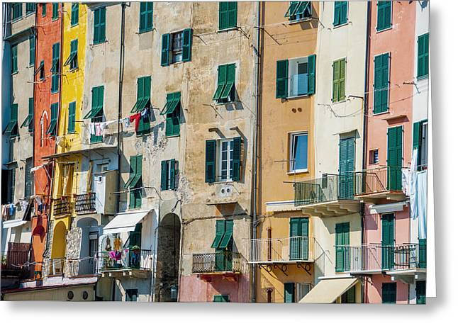 Old Town Portovenere Greeting Card