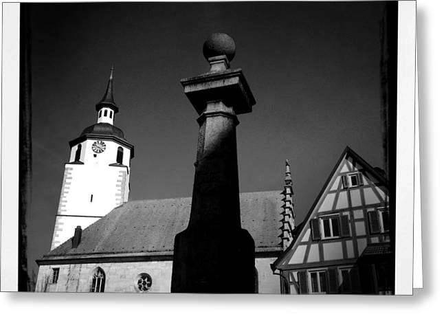 Old Town Waldenbuch In Germany Greeting Card