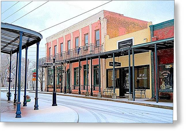 Old Towne Center Street Greeting Card
